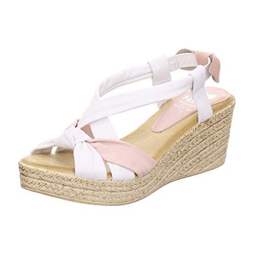 Marila Sandale Damen 1027 Größe 39 EU Weiß (weiß)