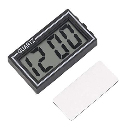 Ba30DEllylelly Schwarzer Kunststoff Kleiner digitaler LCD-Tisch Auto Armaturenbrett Schreibtisch Datum Zeit Kalender Kleine Uhr Mit Kalenderfunktion TS-CD92
