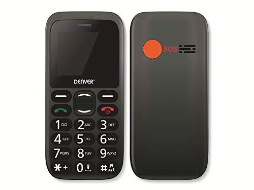 Teléfono Móvil para Personas Mayores. DENVER BAS-18300M. Teclas Grandes. Tecla de Emergencia SOS. Pantalla de 1.77 Pulgadas. Fácil de Usar.