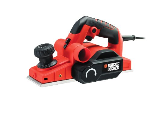 BLACK+DECKER 750 W High Performance Rebating Planer with Vacuum Adaptor Attachment and Kitbox, KW750K-GB