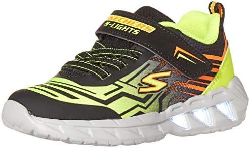 Skechers Kids S Lighs Boys Sport Lighted Sneaker Black Yellow 10 Toddler product image