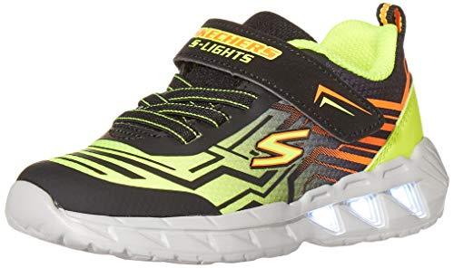 Skechers boys Lighted, Lighs, Lighted, Sport Lighted Sneaker, Black/Yellow, 9 Toddler US