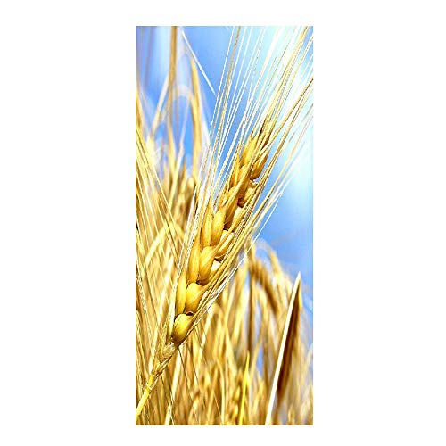77 X 200 Paint Valley Golden Wheat Spike Door With Mural Wall Painting