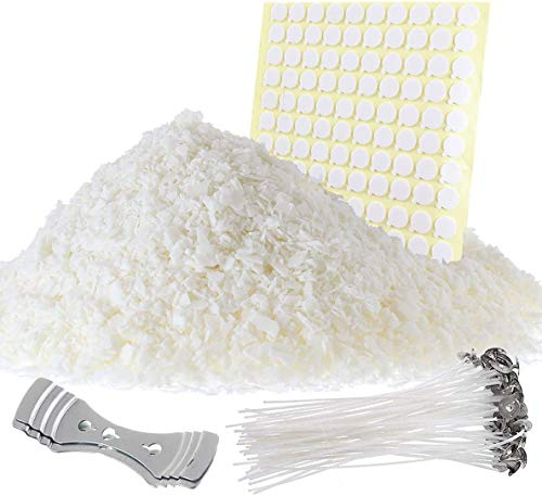 Etienne Alair DIY Making Supplies Soy Flakes 100, 2 Candle Wick Centering Device, 10 Lb Wax + Accessories
