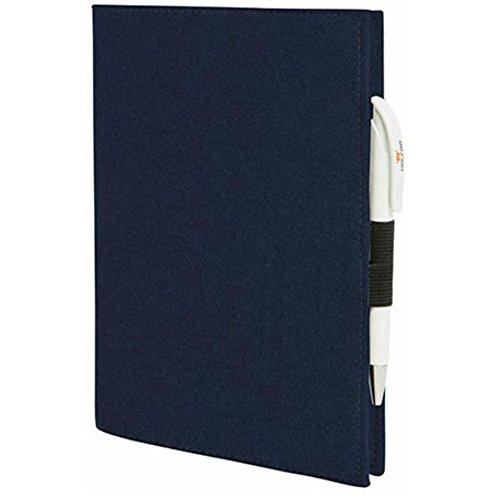 EQT-FASHION Premium Leseschutz Filz Hülle Buch für A4 Notizbücher Filz Buchhülle edler Einband blau