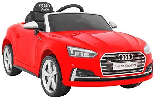 Coche ELÉCTRICO para NIÑO Audi S5 CABRIOLET 12 V (Rojo)