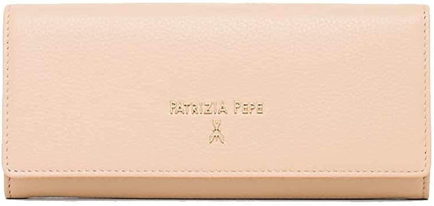 PATRIZIA PEPE Wallet Female Leather camel Beige  2V7002A4U8B524
