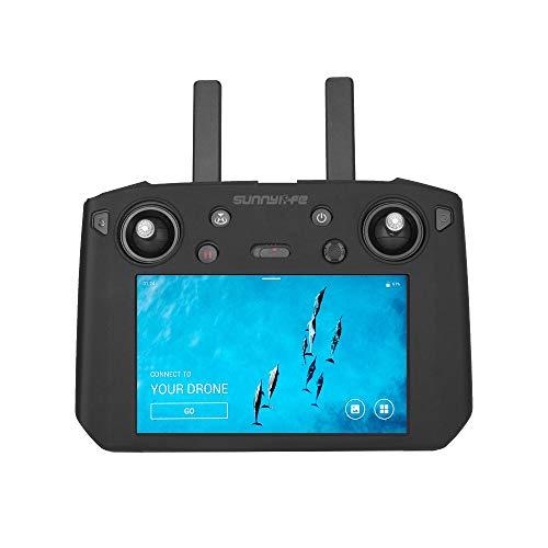 Anbee DJIスマート送信機 DJI SMART CONTROLLERリモコン用 シリコーン 保護ケース カバー(DJI Mavic 2 Pro/Zoomに対応)傷を防ぐ 防塵 汚れ防止 (黒(サンフードなし))