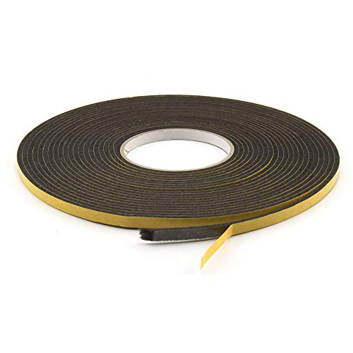 GleitGut Filzband selbstklebend schwarz Länge: 1 m Filzklebeband Meterware Breite: 10 mm Stärke: 3 mm Filzstreifen