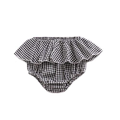 JOYKK Szorty niemowlęce dla noworodków, plisowane Bloomers dla dziewczynek, chłopców, wzór trójkątny, spodenki dla małych dzieci, spodnie z polipropylenu, na lato, kwadratowe 2-110 cm