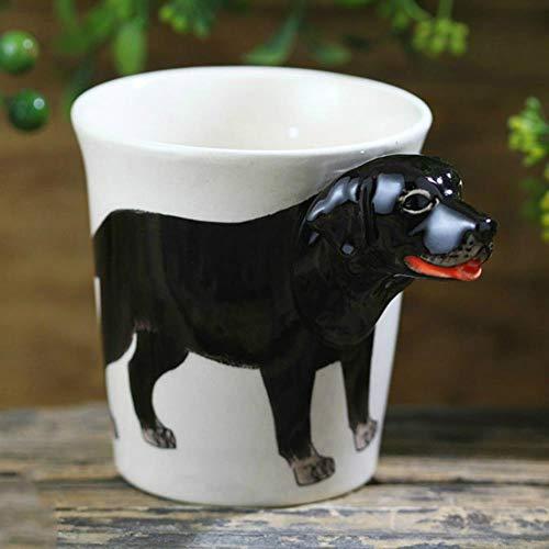 HENGCHENG Espressotasse Geschenk 300Ml Niedlichen Labrador Retriver Hund Tassen 3D Kreative Stereo Tier Kaffeeumwelt Keramik Tassen Lustige Tassen, Labrador Retriver, 300Ml