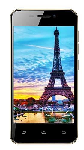 Telefono 4G/WiFi 4.0 Pulgadas Movil Libre Baratos 1GB RAM 8GB ROM Dual SIM Dual Cámara (Oro) TEENO