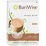 BariWise High Protein Drink Mix/Instant Low-Carb Cold Drink - Cafe Latte (7 Servings/Box) - Low Calorie, Low Carb, Fat Free, Gluten Free