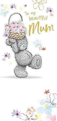 Me to You Tatty Teddy Glückwunschkarte zum Geburtstag, Bärchen mit Blumenmotiv