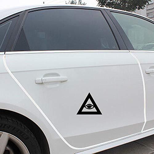 13 cm x 11,2 cm lustig alles sehende Auge Freimaurer Regierung Illuminati Verschwörungstheorien Aufkleber Auto Aufkleber