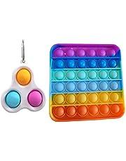 iCOOLIO Popit Fidget Toys, Set di Giocattoli per Bambini, Giocattoli da Figura, popit, Simple dimple, Regali di Pasqua, Giocattoli per Bambini, Antistress e Antistress