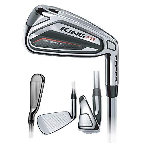 Cobra Golf Club King F9 SpeedBack 4-PW Iron Set Regular Steel New