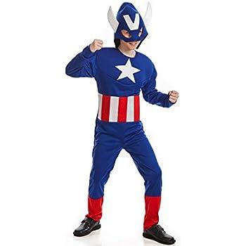 El Rey del Carnaval Disfraz de Capitán Azul para niño: Amazon.es ...