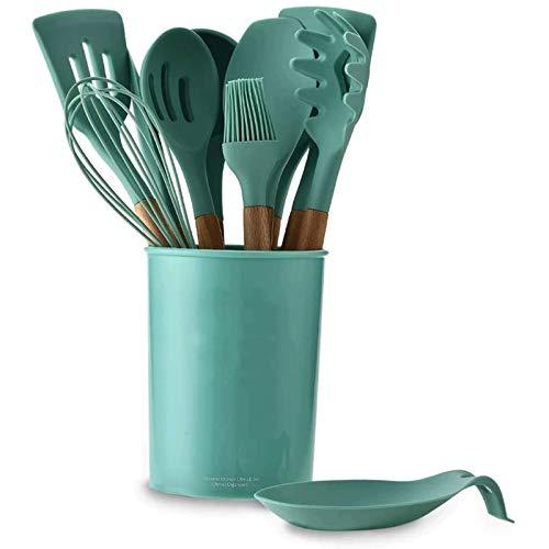 Juego de Utensilios de Cocina Antiadherentes 12 PCS Utensilios de utensilios de cocina utensilios de cocina silicona, utensilios de cocina de silicona resistentes al calor antiadherente