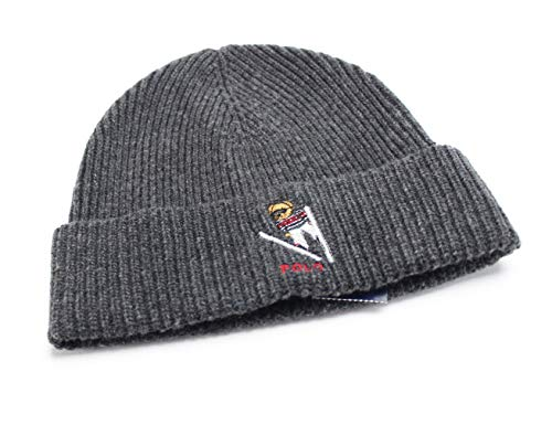 Polo Ralph Lauren Men's Polo Bear Skiing Cuffed Hat Charcoal One Size