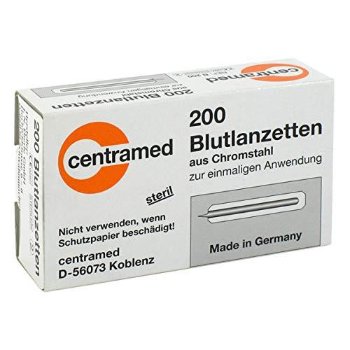Einweglanzette,Lanzetten Blutlanzetten einzeln steril verpackt Diabetiker, 200 Stück