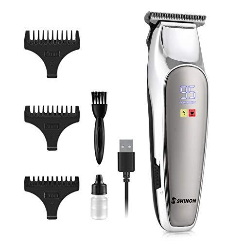 homeasy 0mm Haarschneider Herren Elektrisch T-Blade Detailer Haarschneider Maschine Mini Größe 3 in 1 Bart Konturen Ohr Haartrimmer für Männer