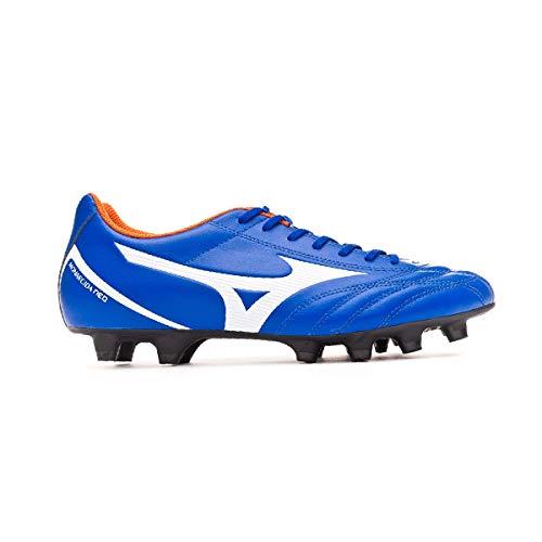 Mizuno Monarcida Neo Select, Bota de fútbol, Reflex Blue-White-Red Orange