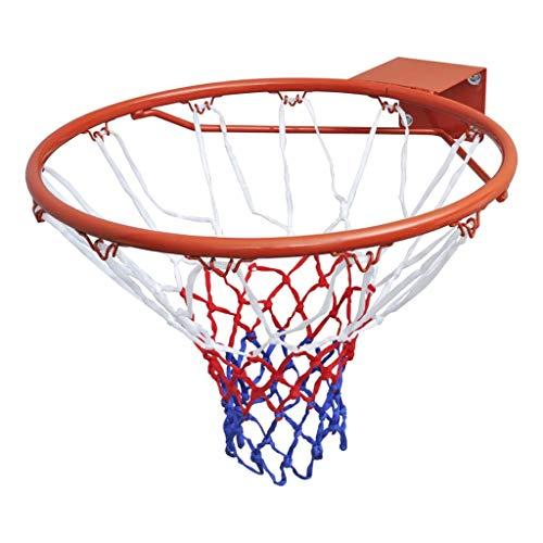 vidaXL Aro de Baloncesto con Red de Acero Naranja 45 cm Canasta de Basket