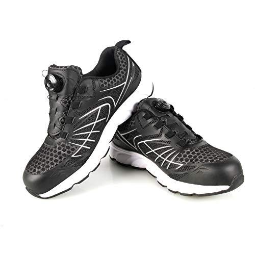 CCLIFE Zapatos de Seguridad para Hombre con Puntera de Acero Zapatillas de Seguridad Trabajo, Calzado de Industrial, Tamaño:46 EU, Color:DSHSH008