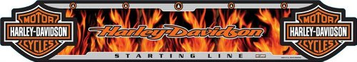 Harley-Davidson Dart Throw Line, Flame Floor Throwing Line, Poly 61954