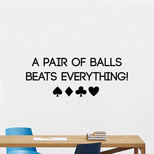 Poker Muursticker Spelkaarten Chips Casino Motivationele Lettering Poster Muursticker Kamer Slaapkamer Muurdecoratie muurschildering 130x49cm