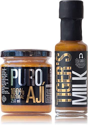 Pack Ceviche | Ají amarillo y leche de tigre | Para preparar ceviches y tiraditos | 100% naturales | Sin aditivos ni conservantes | Sin gluten | Apto para veganos