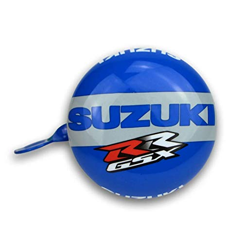 Kiddimoto Official Suzuki Bicycle Bell | Clear & Loud Ringer | Steel Bell for Cycles, Bikes, Scooters | Children Bike Accessories | Available in Blue Color with 2 Screws | 20-26mm Diameter
