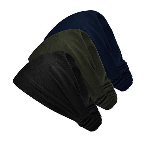 Diadema elástica deportiva que absorbe el sudor de 5 pulgadas para yoga y ejercicio de moda, 3 piezas