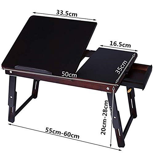 DZWLYX Tragbarer Betttablett,Frühstück Couch Lese Tisch, Tragbare Klappbarer Notebooktisch Für Sofa, Einstellbarer Neigungswinkel Leicht Zu Bedienen Für Laptop Sofa Tisch