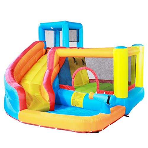 qazxsw Children's Inflatable Castle,Children's Slide Large Children's Boy and Girl Toys Indoor Small Playground Outdoor Children's Trampoline