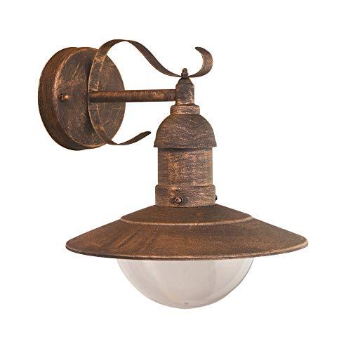 LED Wandleuchte Antik Shabby Außenleuchte IP44 Wandlampe Terassenleuchte - London-Style Antik-Look - Ideal für Garten, Eingang und Außenwand
