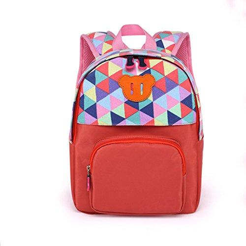 PYtyui Kindergarten Baby Bags Schoolbags para niños y niñas Bolsas para niños Mochila al Aire Libre (Color : Orange)