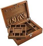 WJDOZ Reines Holz Doppel-Schmuckschatulle Uhrenbox Schmuckkollektion Aufbewahrungsbehälter, Wohnzimmer Schlafzimmer Haus im Freien, Mädchen und Damen