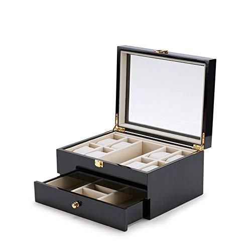 EIU Sieraden Organizer Box Multi-layer Sieraden Doos Moderne Eenvoud Horloge Zonnebril Sieraden Borsten Opbergdoos Zwart W05/04