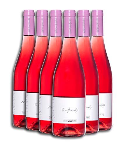 Vino Rosado - Leyenda del Páramo - El Aprendiz - Vino Premiado - Caja de 6 botellas de 75 cl. - Envio en caja protectora de alta resistencia para un transporte 100% seguro
