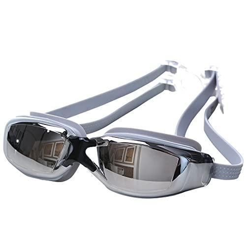 JSJJAUJ Zwembril Siliconen Gel Anti-UV Anti-condens Badpak Bril Zwemmen Duiken Verstelbare Zwembril Zwemmen Apparatuur 2 Kleur PC Lens (Kleur: Zwart)
