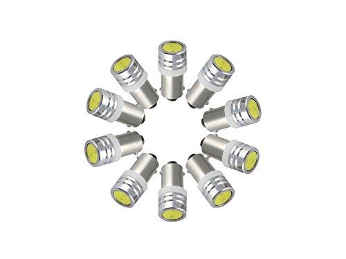 Njytouch 10 x Blanc froid T8.5 BA9 BA9S 6253 64111 T11 T4 W ampoules LED carte Porte lumière 6000 K