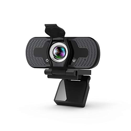 Webcam, 1080P HD Webcam with Microphone, Plug & Play USB 2.0 Computer Camera with Privacy Cover, Desktop/Laptop Webcam for Live Streaming, Video Call, Conference, Recording, Online Classes, Game