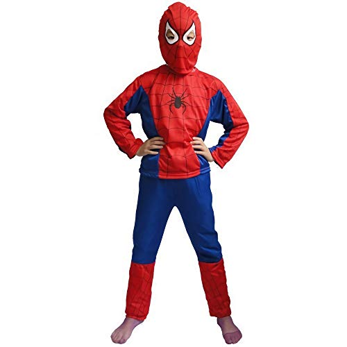 LUOWAN Red Cosplay Kleidung Sets Super Hero Spider-Man Anzug Kostüm Langarm Geburtstagsgeschenk Idee Miles Morales (S)