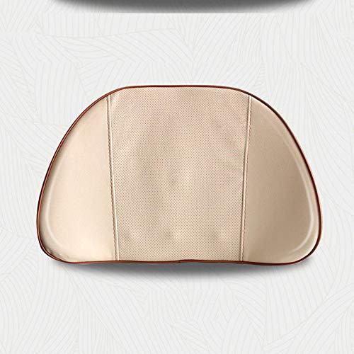 Masaje eléctrico Memoria de coche Algodón Almohada lumbar Pad de soporte lumbar (Color : Beige)