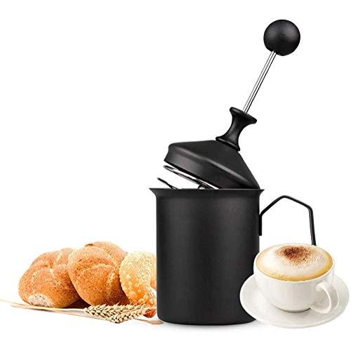 Montalatte Montalatte, 500ML in Acciaio Inox palmare Manuale Montalatte Doppia Maglia della Gomma Piuma Mixer for caffè, Latte, Cioccolata Calda caffè Cappuccino Creamer Foamer WTZ012