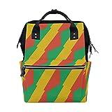 Kongo Brazzaville Flagge Mama Tasche Mutter Tasche Reise Rucksack Wickeltasche Daypack Windeltaschen für Babypflege Große Kapazität