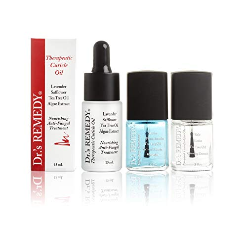 Dr.'s REMEDY, Anti-Fungal Restorative Remedy Trio with Therapeutic Cuticle Oil, Hydration Nail Treatment and Total Two-in-One