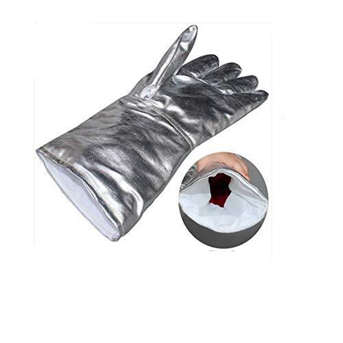 Hochtemperaturbeständige Handschuhe, Hochtemperaturbeständige Handschuhe Aus Aluminiumfolie, 250-300 Grad Brandschutz-Strahlenschutzhandschuhe